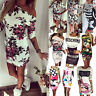 Sexy Women's Floral/Cartoon Party Evening Clubwear Slim Bodycon Short Mini Dress