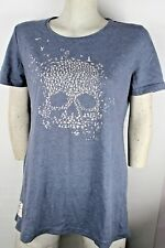 Red Torpedo Vintage Mean Bird (Ladies) Steel Blue T-Shirt - Size 8 (X-SMALL)