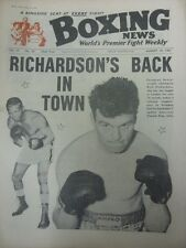 25/08/1961 Boxing News Magazine: Vol: 17 No: 34 - Content To Include: Howard Win