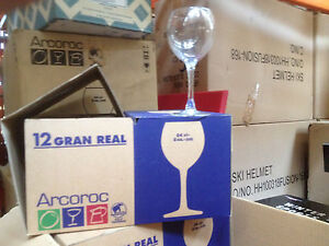 """JOBLOT CLEARANCE 12 x ARCOROC """"GRAN REAL""""  WINE GLASSES 24cl ONLY £16.99 INC DEL"""