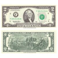 United States USA 2 Dollars 1995 P-497 Series F (Atlanta) Banknotes UNC