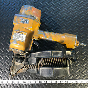 STANLEY BOSTITCH PNEUMATIC ROOFING SHINGLE COIL NAILER GUN AS-IS! (HAS AIR LEAK)