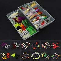 131pcs Fishing Lure Kit Mixed Crankbaits Hooks Minnow Bass Baits Tackle w/ Box