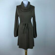 8fd2766a0af Calvin Klein Sweater Dress Size M Brown Cowl Neck Long Sleeve Acrylic Womens
