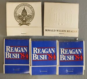 Reagan Bush '84 Matchbook Lot Presidential Inauguration Vote Campaign set LG043