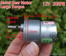 37mm DC 6V 12V 20RPM High Torque Gear Motor Electric Getriebe Motor Slow Speed