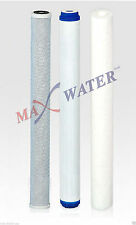 "Max Water Whole House Water Filter Set 20"" x 2.5"" Coconut Shell Carbon, Sediment"
