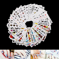 48sheets nail art water decals skull halloween manicure transfer stickers lot GS