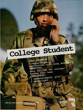 1996 U.S. Army Reserve Recruitment College Student Woman Vintage Color Print Ad