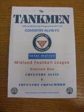 20/01/2018 Coventry Alvis v Coventry Copsewood [Postponed & Postponed Again 28/0