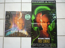 Star Trek First Contact (Science Fiction Action US THX Laserdisc +Poster! 1997!)