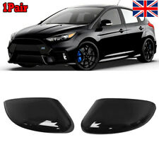 Ford Focus MK3 2011-2018 Gloss Black Door Wing Mirror Cover Pair Left /& Right