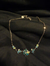 Touchstone Crystal by Swarovski Shades of Blue /Green Crystal  Necklace NEW