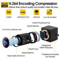 ELP 1080P Webcam H.264 CCTV Sony IMX322 2.8-12mm Varifocal Lens Mini USB Camera