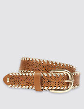 Marks and Spencer Gold Whipstitch Hip Belt rrp £15 Size L LS079 KK 17