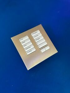 Lutron SeeTouch Keypad HWIS-NB-NONE (with Stainless Steel Faceplate)