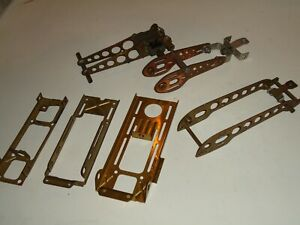 1/24   VINTAGE SLOT CAR JUNK CHASSIS LOT WITH A MOTOR