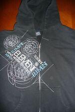 ELEMENT Black Zip-up Sweatshirt Hoodie | Men's S ø Hurley Volcom