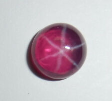 Transparent Star Ruby Round 9 mm Flat Cabochon 6 Rayed lab-created Stone