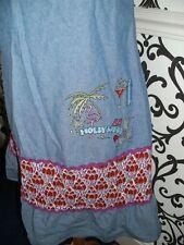 Denim & Red floral ditsy Laura Lees Label Tea Dress Kitsch Medium 12 BNWT £65