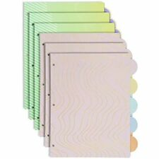 Rose Gold Glitter 3 Ring Binder Dividers With 5 Tabs Cute Paper Page 85 X 11 6