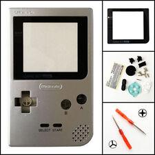 GBP Nintendo Game Boy Pocket Replacement Housing Shell Screen Silver USA!