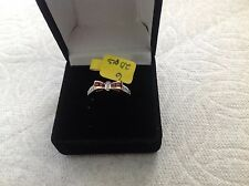 14k yellow gold bow design ring with ruby and diamond