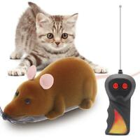 Interactive Remote Control Rat Mouse Pet Cat Flocking Tricky Rotation Mouse Toy
