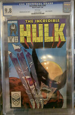 Incredible Hulk #340 CGC 9.8 WHITE Pages Todd McFarlane Wolverine Classic Cover