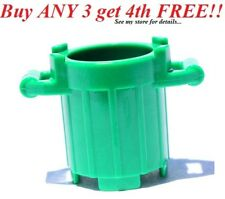 Lego Recycle Container Green w// Lid 4206 Box Garbage Trash Can