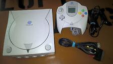 # Sega Dreamcast consola + controlador + VMU + TV - & cable de alimentación-top blanco #