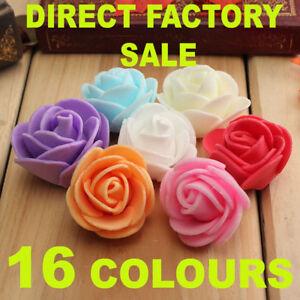Mini Foam 3 cm Roses Wedding Craft Flower Party Decoration Favour- 10 Colours