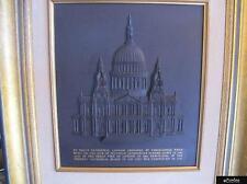 RARE Wedgwood Nero Basalto Grande St. Pauls Cathedral Placca-L/e del 250