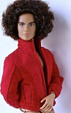 """FASHION ROYALTY HOMME RED """"SUEDE"""" JACKET FITS KEN, HOTS TOYS, ETC. MINT"""
