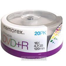 80 Memorex 16X White Inkjet Printable 4.7GB DVD+R PLUS R [FREE Priority Mail]