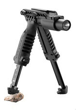 "3 In 1 Foregrip W/Integrated Adjustable Tactical Bipod and 1"" Flashlight Holder"