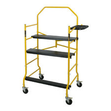 Scaffold Steel Tower Load Capacity 1000 Lb Includes 4 Casters Locking Pins