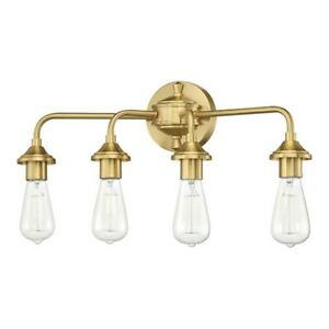 Craftmade Bridgestone 4 Light Vanity, Satin Brass - 53004-SB