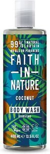 Faith in Nature Natural Coconut Body Wash Hydrating  400ml UK FREE DELIVERY