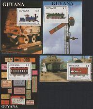 Guyana 1989 - Mi-Nr. Block 33-36 ** - MNH - Eisenbahn / Trains