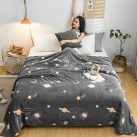 Coral Fleece Blankets Warm Soft Throw Winter Sofa Plane Travel Bedspreads Sheets