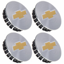 OEM NEW Wheel Hub Center Cap Set of 4 Silver w/ Bowtie 05-13 Chevrolet 9597550