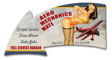 VINTAGE STYLE METAL SIGN Aero Mechanics Mate Full Service Arrow 21 x 11