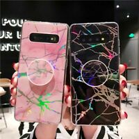 Laser Marble Stand Holder Case Cover For Samsung Galaxy Note 8 9 S8 S9 Plus S10e