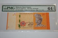 (PL) NEW: RM 20 BE 2230001 PMG 64 EPQ ZETI PRINTING ERROR NOTE UNC