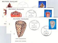 ENVELOPPE 1er JOUR - COQUILLAGE DE POLYNÉSIE 14 MARS 1977