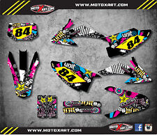 Honda CRF 150 F 2008 - 2014 Custom Graphic kit RUSH style decals / stickers
