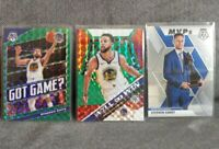 Stephen Curry 2019-20 Mosaic Inserts lot Green Prizm Got Game MVPs Will to Win