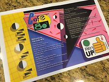 11x17 Cafe 80s Menu Back to the Future 2 Movie Prop Replica BTTF Print 2015
