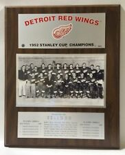 Detroit Red Wings 1952 Stanley Cup Champions Plaque by Healy Awards